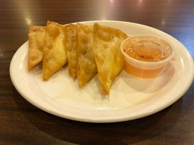 Crab Rangoon from Curry in the Box - University Ave in Madison, WI