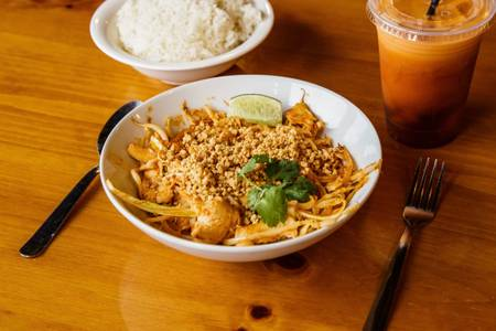 Pad Thai from Curry in the Box - University Ave in Madison, WI