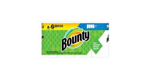 Bounty Select-A-Size Paper Towels White (4 ct) from CVS - SW Wanamaker Rd in Topeka, KS