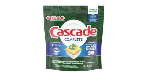 Cascade Complete Action Pacs Dishwasher Detergent Lemon Scent (21 ct) from CVS - SW Wanamaker Rd in Topeka, KS