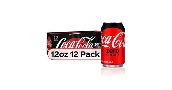 Coca Cola Zero Calorie 12 oz Cans (12 pk) from CVS - SW Wanamaker Rd in Topeka, KS