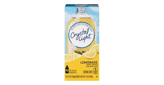 Crystal Light Drink Mix Lemonade 1.4 oz each (10 ct) from CVS - SW Wanamaker Rd in Topeka, KS