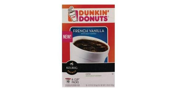 Dunkin' Donuts French Vanilla Coffee K-Cup Pods (10 ct) from CVS - SW Wanamaker Rd in Topeka, KS