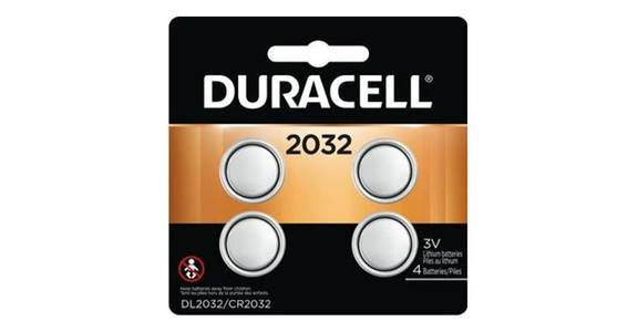 Duracell 2032 3V Lithium Coin Battery (4 pk) from CVS - SW Wanamaker Rd in Topeka, KS