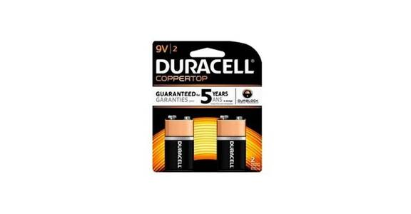Duracell CopperTop 9V Alkaline Battery (2 ct) from CVS - SW Wanamaker Rd in Topeka, KS