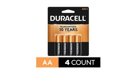 Duracell CopperTop AA Alkaline Battery (4 ct) from CVS - SW Wanamaker Rd in Topeka, KS