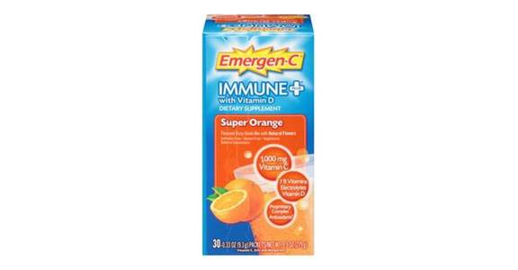 Emergen-C Immune+ 1000mg Vitamin C Powder Orange (30 ct) from CVS - SW Wanamaker Rd in Topeka, KS