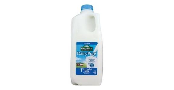 Garelick Farms DairyPure 1% Milk (1/2 gal) from CVS - SW Wanamaker Rd in Topeka, KS