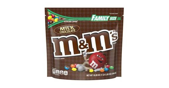 M&M's Milk Chocolate Candy Family Size Bag (19.2 oz) from CVS - SW Wanamaker Rd in Topeka, KS