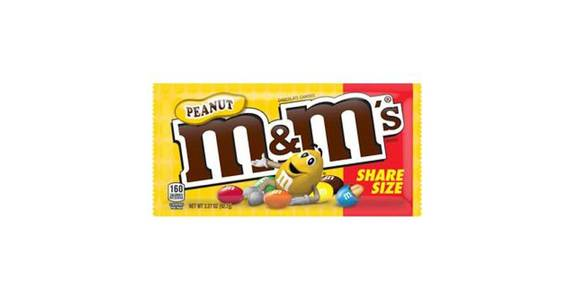 M&M's Peanut Milk Chocolate Candy (3.3 oz) from CVS - SW Wanamaker Rd in Topeka, KS