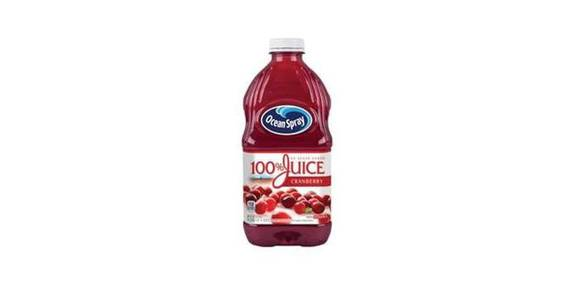 Ocean Spray 100% Juice Cranberry (60 oz) from CVS - SW Wanamaker Rd in Topeka, KS