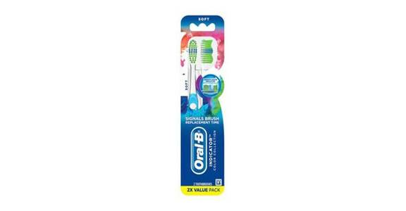 Oral-B Indicator Contour Clean Toothbrush Soft Bristles (2 ct) from CVS - SW Wanamaker Rd in Topeka, KS