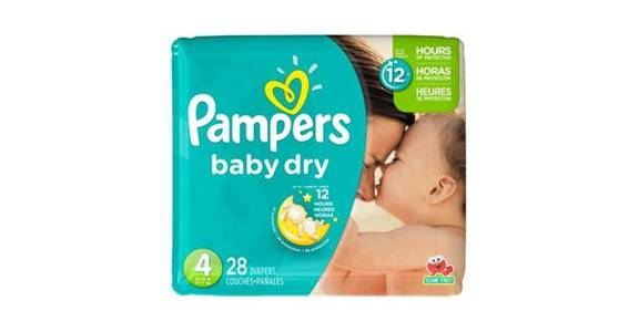 Pampers Baby Dry Diapers Jumbo Pack Size 4 (28 ct) from CVS - SW Wanamaker Rd in Topeka, KS