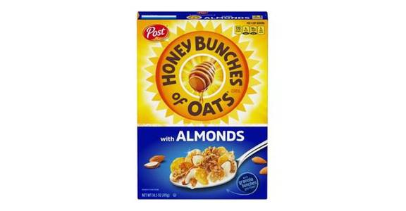 Post Honey Bunches of Oats Cereal With Almonds (14.5 oz) from CVS - SW Wanamaker Rd in Topeka, KS