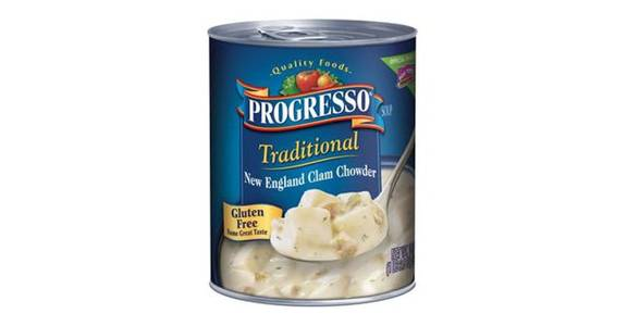 Progresso New England Clam Chowder Soup (18.5 oz) from CVS - SW Wanamaker Rd in Topeka, KS