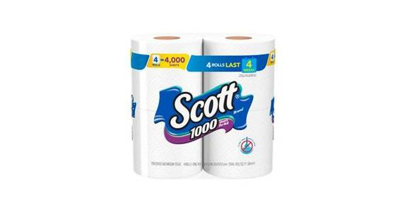 Scott 1000 Sheets Per Roll Toilet Paper (4 ct) from CVS - SW Wanamaker Rd in Topeka, KS