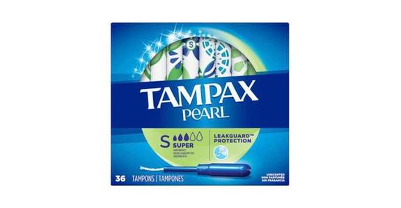 TAMPAX Pearl, Super, Plastic Tampons, Unscented (36 ct) from CVS - SW Wanamaker Rd in Topeka, KS