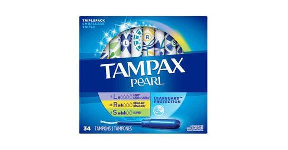 TAMPAX Pearl Triple Pack (Light/Regular/Super) Plastic Tampons, Unscented (34 ct) from CVS - SW Wanamaker Rd in Topeka, KS