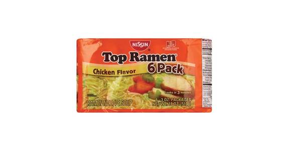 Top Ramen Chicken 6 Pack (3 oz) from CVS - SW Wanamaker Rd in Topeka, KS
