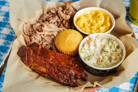 3 Meat Plate from Dickey's BBQ Pit in Elk Grove, CA