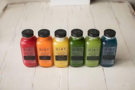 Our juices vary from day to day and seasonal from Dirt Juicery in Green Bay, WI