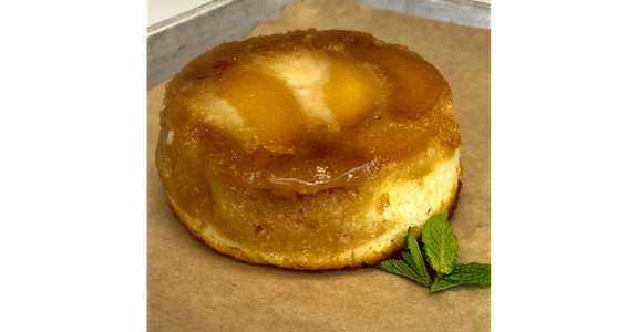 Upside-Down Peach Cake from Duck Lips Fried Chicken in Madison, WI