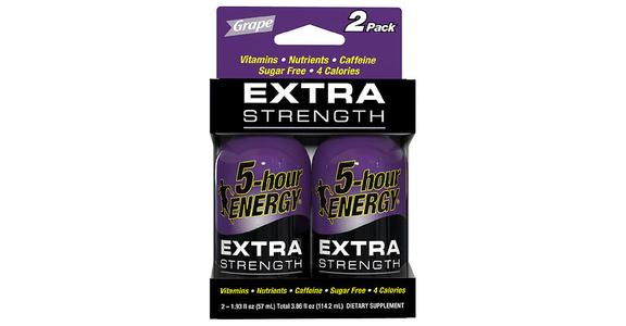 5-Hour ENERGY Shot Extra Strength Grape 1.93 oz Bottles (2 ct) from EatStreet Convenience - N Port Washington Rd in Glendale, WI