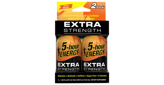 5-Hour ENERGY Shot Extra Strength Peach Mango 1.93 oz Bottles (2 ct) from EatStreet Convenience - N Port Washington Rd in Glendale, WI