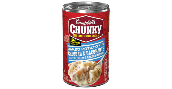 Campbell's Chunky Baked Potato with Cheddar & Bacon Bits Soup (18.8 oz) from EatStreet Convenience - N Port Washington Rd in Glendale, WI