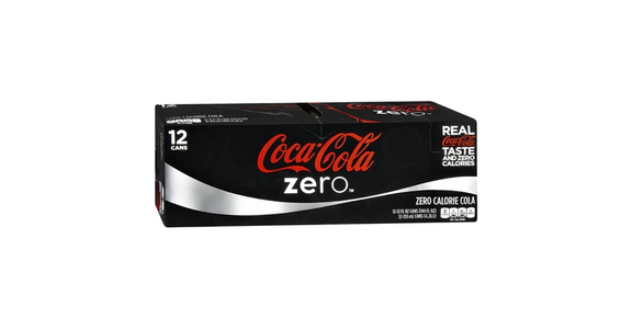 Coke Zero Soda Cola 12 oz (12 pack) from EatStreet Convenience - Branch St in Middleton, WI
