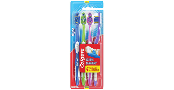 Colgate Extra Clean Full Head Toothbrush, Medium (4 ct) from EatStreet Convenience - N Port Washington Rd in Glendale, WI