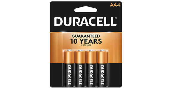 Duracell Coppertop Alkaline Batteries AA (4 ct) from EatStreet Convenience - Branch St in Middleton, WI