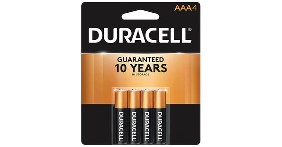 Duracell Coppertop Alkaline Batteries AAA (4 ct) from EatStreet Convenience - Branch St in Middleton, WI