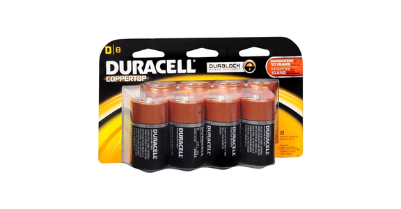 Duracell Coppertop Alkaline Batteries D (8 ct) from EatStreet Convenience - Branch St in Middleton, WI