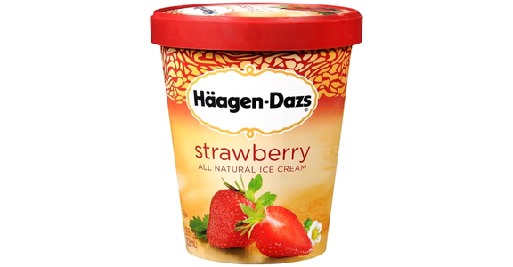Haagen-Dazs Ice Cream Strawberry (14 oz) from EatStreet Convenience - Branch St in Middleton, WI