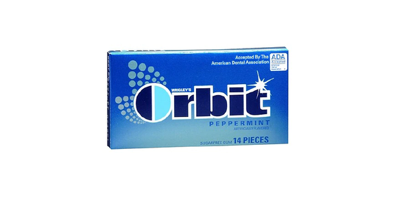 Orbit Sugarfree Gum Peppermint (14 ct) from EatStreet Convenience - N Port Washington Rd in Glendale, WI