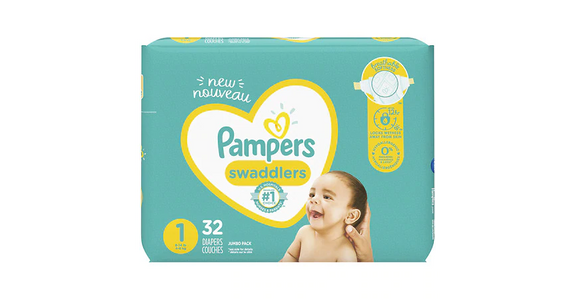 Pampers Swaddlers 1 (0-14 lbs) (32 ct) from EatStreet Convenience - N Port Washington Rd in Glendale, WI