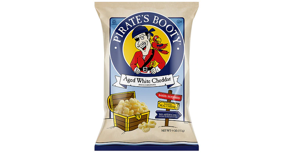 Pirate's Booty White Cheddar Rice & Corn Puffs (4 oz) from EatStreet Convenience - N Port Washington Rd in Glendale, WI