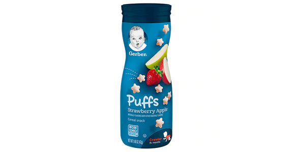 Gerber Graduates Puffs Cereal Snack Strawberry-Apple (1.48 oz) from EatStreet Convenience - S Fish Hatchery Rd in Fitchburg, WI