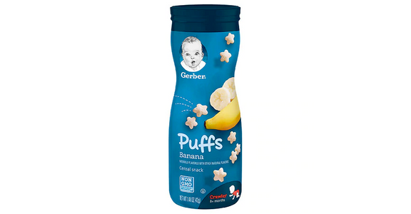 Gerber Puffs Cereal Snack Banana (1.48 oz) from EatStreet Convenience - S Fish Hatchery Rd in Fitchburg, WI