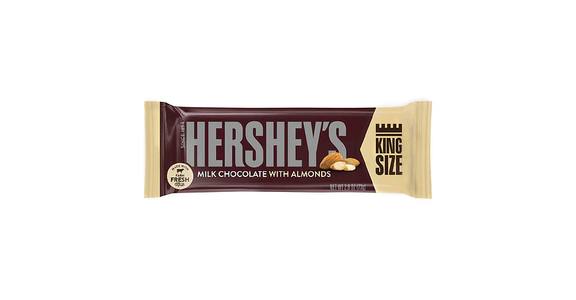 Hershey's King Size Milk Chocolate with Almonds Bar (3 oz) from EatStreet Convenience - Branch St in Middleton, WI