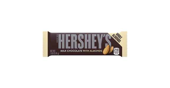 Hershey's Milk Chocolate with Almonds Bar (1 oz) from EatStreet Convenience - N Port Washington Rd in Glendale, WI