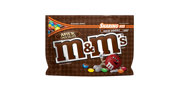 M&M's Milk Chocolate Candy Bag Milk Chocolate (11 oz) from EatStreet Convenience - Branch St in Middleton, WI