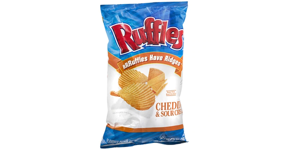 Ruffles Flavored Potato Chips Cheddar & Sour Cream (8 oz) from EatStreet Convenience - N Port Washington Rd in Glendale, WI