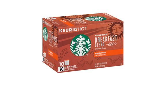 Starbucks K-Cups Breakfast Blend (10 pk) from EatStreet Convenience - N Port Washington Rd in Glendale, WI