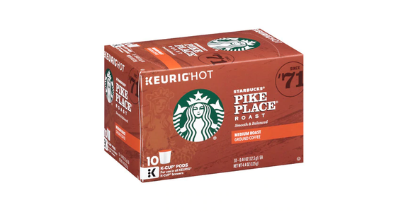 Starbucks K-Cups Pike Place Roast (10 pk) from EatStreet Convenience - N Port Washington Rd in Glendale, WI