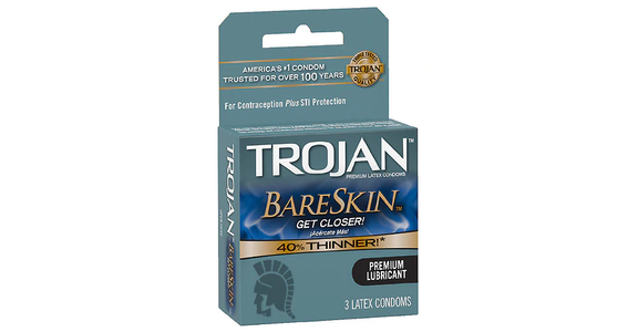 Trojan BareSkin Condoms (3 ct) from EatStreet Convenience - Branch St in Middleton, WI