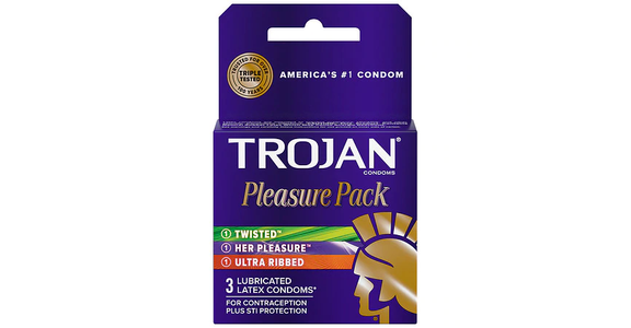 Trojan Pleasure Pack Lubricated Condoms (3 ct) from EatStreet Convenience - N Port Washington Rd in Glendale, WI