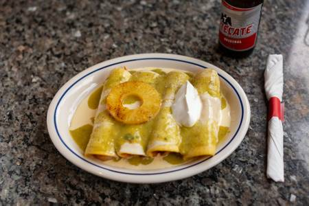 Enchiladas Suizas (Lunch) from El Mezcal in Lawrence, KS