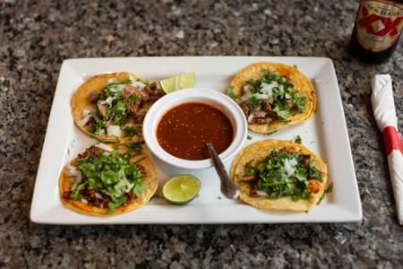 Street Tacos from El Mezcal in Lawrence, KS